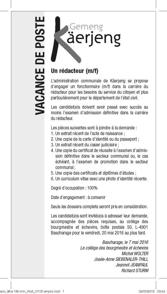 Annonce Wort_07_05 emploi